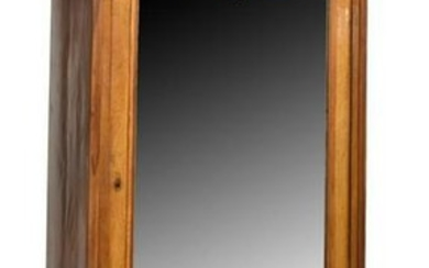 FRENCH LOUIS PHILIPPE BURLWOOD MIRRORED ARMOIRE