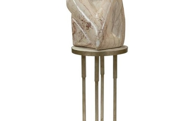 Freeform Marble Sculpture on Pedestal