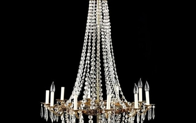 French Empire Style Drop Prism Chandelier