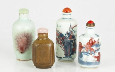 Group of Chinese Porcelain Snuff Bottles