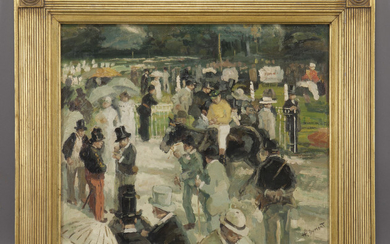 """Henri Dumont """"Untitled (Afternoon at the track)"""""""