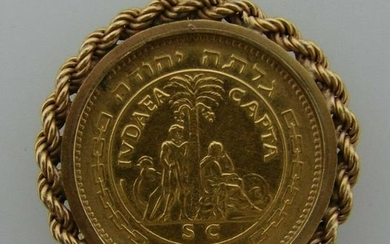ICONIC 22k & 14k Yellow Gold Israel Liberata Coin
