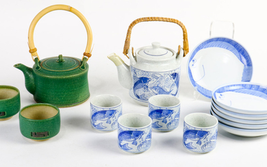 Japanese Group of Teapots, Cups, Dishes