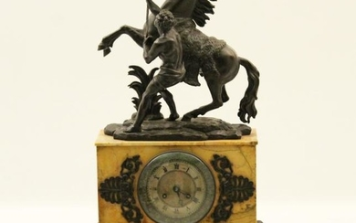 LOUIS PHILIPPE MARBLE AND BRONZE MOUNTED CLOCK