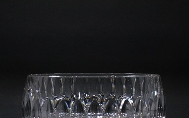 Large Heavy Lead Crystal Glass Center Bowl