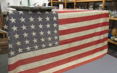 Mid 20th Century American flag with 48 stars, 170cm x 90cm