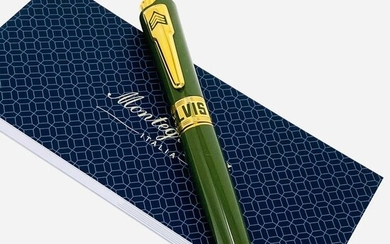 Montegrappa - Ballpoint - Limited Edition Icons Elvis Presley Ballpoint Pen Green Las Vegas ISICEBYG