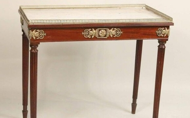 Neoclassical Style Marble Top Mixing Table