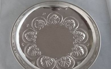 Neoclassical sterling silver dish - .925 silver - Bicchielli & Pasquini - Florence- Italy - Late 20th century