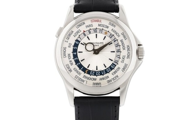 PATEK PHILIPPE | REF 5130 LIMITED EDITION WHITE GOLD WORLD TIME WRISTWATCH MADE FOR ISTANBUL CIRCA 2013