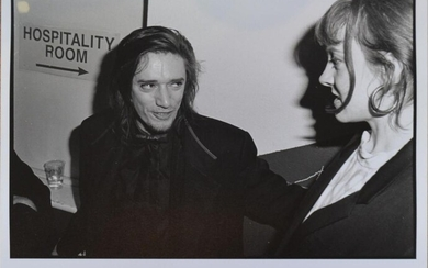 PETER MILNE, CHARMING NOSFERATU (BLIXA SHOWING HOSPITALITY TO A POOR INNOCENT YOUNG LADY BACKSTAGE IN LONDON), SILVER GELATIN PHOTOG...