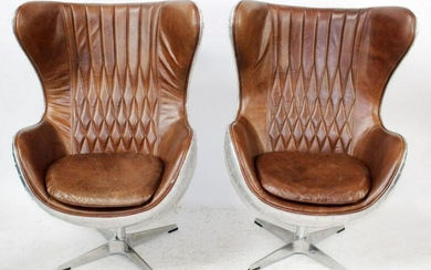 Pair of Aviation Arne Jacobsen Manner Chairs