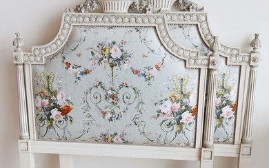 Pair of Louis XIV Style Upholstered Twin Headboards
