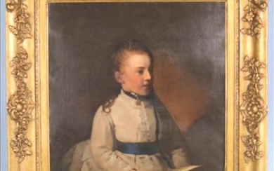 Early Portrait on canvas in gold frame