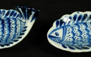 Russian Porcelain Fish Shaped Bowls