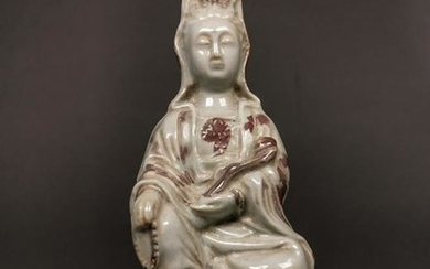 SUPERB CHINESE PORCELAIN GUANYIN