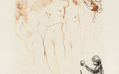 Salvador Dali (1904-1989) Judgement of Paris (Three Graces) (Field 63-3I; M&L 123b)