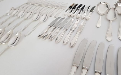 Silver plated Gero 100 cutlery - model Puntfilet - 96 parts / 12 persons - Silverplate