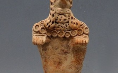 Syro-Hittite Terracotta Statuette of a Deity- 201mm height