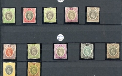 The Nigerias chiefly M range on black stock leaves incl. 193...