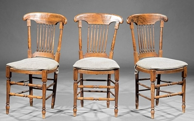 Three French Provincial Walnut Side Chairs