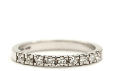 SOLD. Toftegaard: Diamond eternity ring set with three brilliant-cut diamonds totalling 0.27 ct., mounted in...