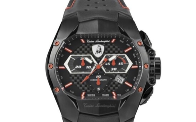 Tonino Lamborghini - GT1 Chronograph Watch Red Carbon Swiss Made - T9GA - Men - 2011-present