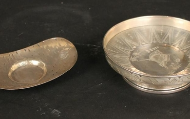 Two Asian Silver Small Bowls