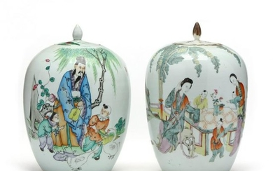 Two Chinese Porcelain Ginger Jars