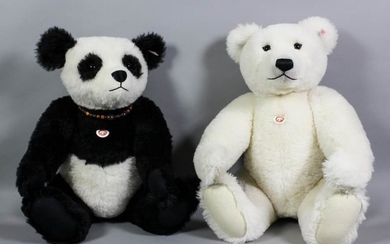 """Two Limited Edition Steiff Teddy Bears - """"Panda Ted"""",..."""