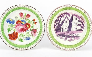 Two early 19th century Swansea pottery plates with