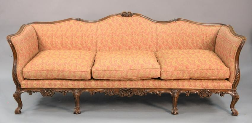 Two piece group to include French-style custom sofa