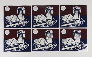 after Roy Lichtenstein, Six placemats based on the