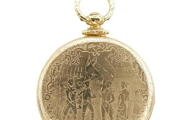 18 karat gold key-wind hunting case pocket watch Gabriel...