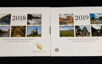 2 America The Beautiful Uncirculated Coin Sets 2018