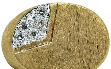 .20 Carat Round Diamonds Men's Ring Masculine Brushed