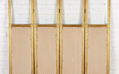 FRENCH CARVED GILT WOOD FOLDING SCREEN C.1920