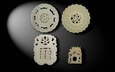 4 Chinese Jade Carvings, Ming and Qing