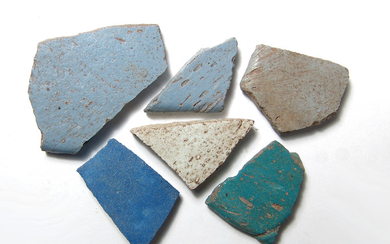 6 New Kingdom to Late Period Egyptian glass sherds