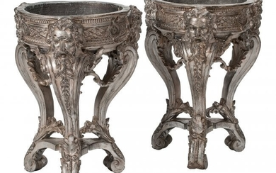 61058: A Pair of French Regence-Style Silvered Carved W