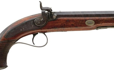 A 28-BORE PERCUSSION OFFICER'S PISTOL BY HOLLIS OF