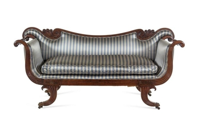 A George IV Brass Mounted Carved and Figured Mahogany