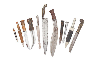 A Group Of Various Daggers, Mostly 19th Century