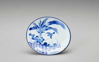 A LARGE BLUE AND WHITE ARITA PORCELAIN DISH