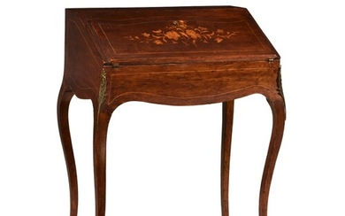 A Louis XV style walnut and marquetry bonheur du jour, 19th ...