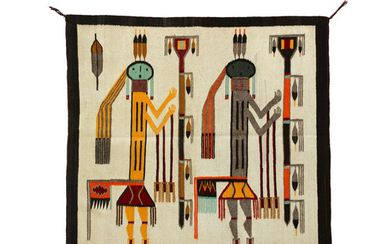 A Navajo Shiprock-style pictorial rug