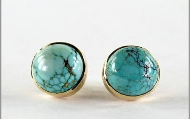 A Pair of Turquoise Earrings.