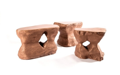"A Set of Three Coffee Table Mod. No. 1, 2 and 3 from the ""River"" Series, designed and manufactured by Studio Superego"