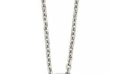 A diamond cross pendant necklace, the tapered...