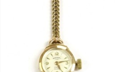 A ladies' 9ct gold Rotary mechanical bracelet watch